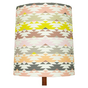 Image of Navaho Print Lamp Shade (stripe), Heather