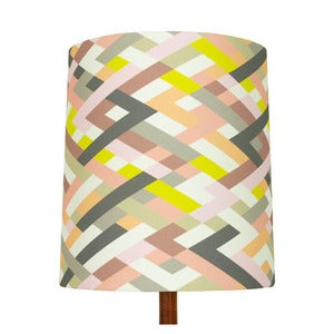 Image of Lattice Print Lamp Shade, Heather