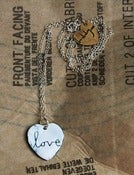 Image of Large 'Love' Heart necklace
