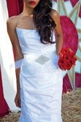 Image of ALEXISS-Rhinestone and Horse Hair Bridal Sash/Belt