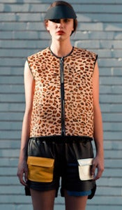 Image of RACER leather vest (leopard)