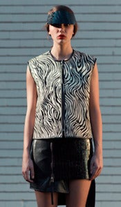 Image of RACER leather vest (zebra)