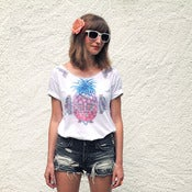 Image of T-shirt Deco Pineapple ~ Women