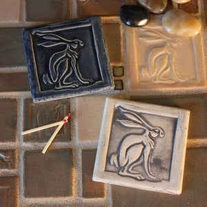 Image of Rabbit Hare tile 3x3 inches