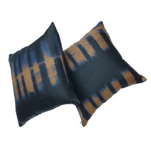 Image of indigo stripe pillow