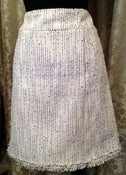 Image of Chanel Grey Tweed Classic Mini Skirt SZ 38 90s