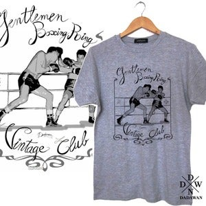 Image of T-shirt Gentlemen Boxing Ring Vintage Club by Dadawan