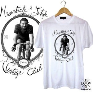 Image of T-shirt Moustache and Style Vintage Club by Dadawan