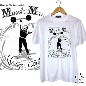 Image of T-shirt Muscle Man Vintage Club by Dadawan 