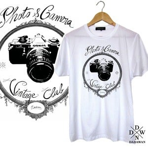 Image of T-shirt Photo and Camera Vintage Club by Dadawan