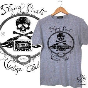 Image of T-shirt Flying Pirats Vintage Club by Dadawan 
