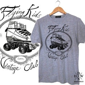 Image of T-shirt Flying Kids Vintage Club by Dadawan 
