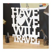 Image of have love will travel sign