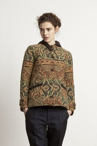 Image of Vintage Jacquard Quilted Jacket<br>- was £340 -
