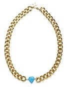 Image of NEPTUNE NECKLACE - GOLD/TURQUOISE