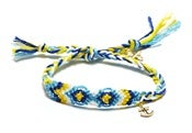 Image of BLENNY ANKLET - LIGHT BLUE/YELLOW