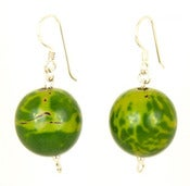 Image of Bombona Earrings Green