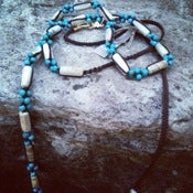 Image of chan luu turquoise bead long necklace wrap
