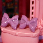 Image of Lavender Bow Stud Earrings