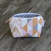 Image of zippered pouch - modern peach