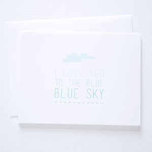 Image of To the Blue Sky Card