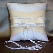 Image of MADELINE-Silk Dupioni and Rhinestone Buckle Ring Bearer Pillow