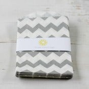 Image of Mini Gray Chevron Bags
