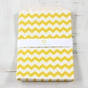 Image of Large Yellow Chevron Bags