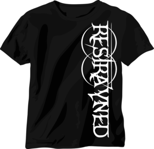 Image of Restrayned Going Down Logo T-Shirt (Black/White)