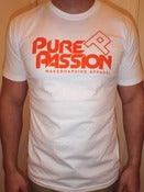 Image of Orange Neon Logo White T