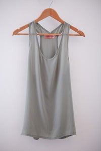 Plain Grey Green Tank
