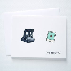 Image of We Belong Polaroid Card