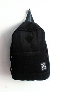 T-shirt design Cord & Suede Backpack - Black