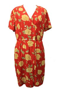Image of Lotty Hawaiian print Tea Dress