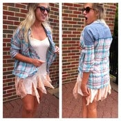 Image of retro plaid oversized shirt