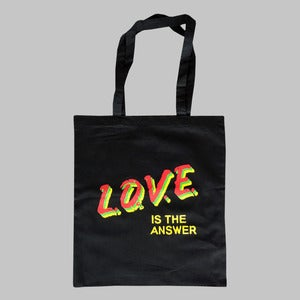 "Image of Erol Alkan ""L.O.V.E. Is The Answer"" Tote Bag"