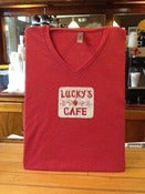 Image of Lucky's New Light V-Neck T-Shirts (Red)