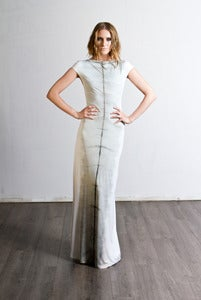 Image of Shibori Maxi Cocoon Dress