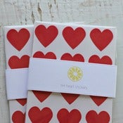 Image of 144 Red Heart Stickers