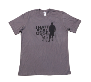 Image of FUND RAISER: Limited Edition 'Zach on Crutches' Tee Shirt