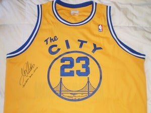 "Image of Jason ""J-Rich"" Richardson Throwback Warriors Signed Authentic Jersey"
