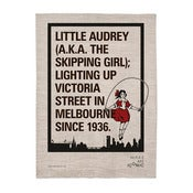 Image of iconic neon tea towel - 100% linen