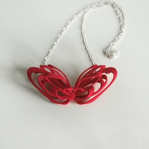Image of Ribbon Necklace Pink
