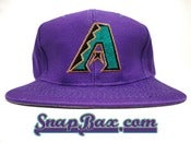 Image of Vintage Deadstock Arizona Diamondbacks Twins Purple Snapback Hat Cap