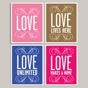 Image of Custom LOVE Prints ♥ Series 2 ♥  (choice of 30 colours) - 20x25cm