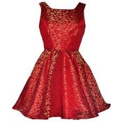 Image of 40% OFF! Red Midas Jacquard Party Dress
