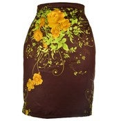 Image of Floral Pencil Skirt