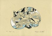 Image of Sleeping Fox - Limited Edition Screen Print
