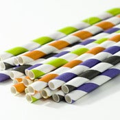 Image of Halloween Stripe Paper Straws