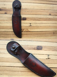 Image of Custom Leather Knife Sheath for Blades up to 5 Inches